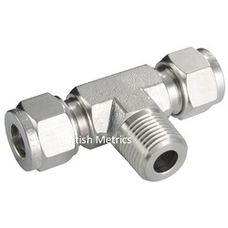 Male Branch Tee 4mm x 1/8 BSPP 316SS