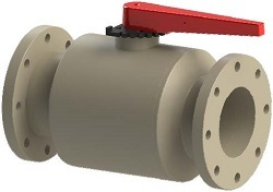 Flanged PPH Ball Valve DN150 PN10