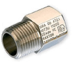Electrical Ext Adaptor M20 x 1.5 x 1  Brass Nickel Plated